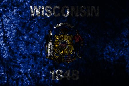 Wisconsin state smoke flag, United States Of America