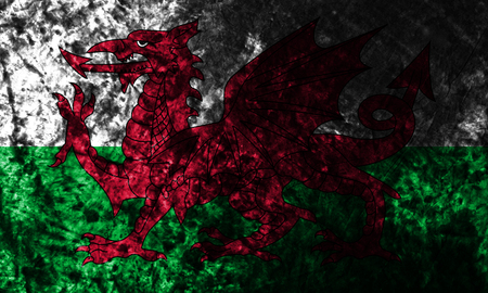 Wales smoke flag,  part of the United Kingdom