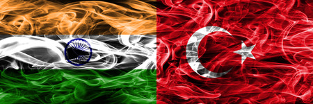India vs Turkey smoke flags placed side by side