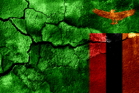 Zambia rusted texture flag, rusty background Stock Photo