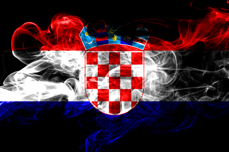 Croatia colorful smoking flag