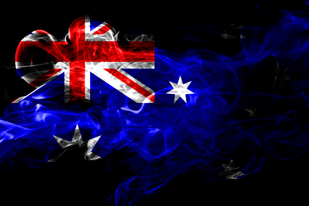 Australia colorful smoking flag