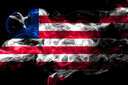 Liberia colorful smoking flag