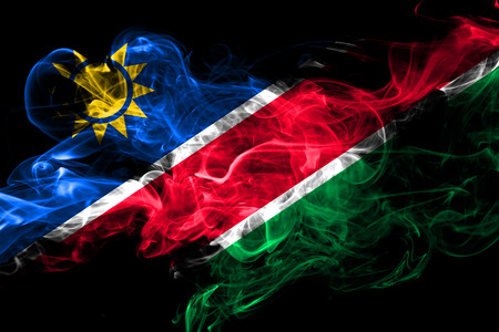 Namibia colorful smoking flag