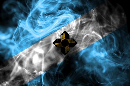 Madison city smoke flag, Wisconsin State, United States Of America