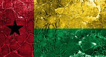 Old Guinea-Bissau grunge background flag Banco de Imagens