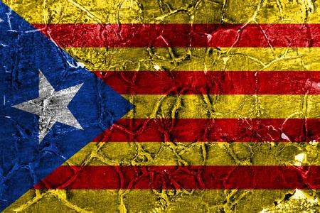 Catalonia grunge flag, dependent territory flag