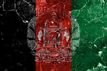 Old Afghanistan grunge background flag Banco de Imagens