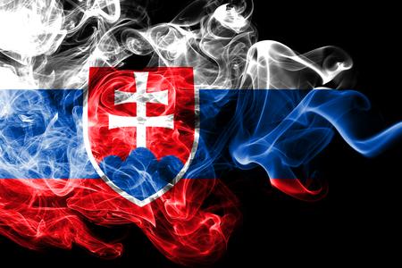 Słowacja dym flaga Zdjęcie Seryjne