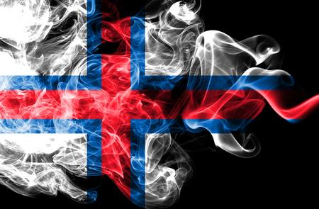 Faroe Islands smoke flag, Denmark dependent territory flag Archivio Fotografico