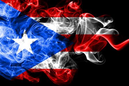 Puerto Rico smoke flag, United States dependent territory flag Stok Fotoğraf