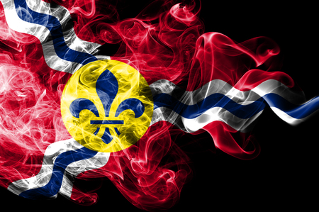Saint Louis city smoke flag, Missouri State, United States Of America
