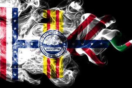 Tampa city smoke flag, Florida State, United States Of America