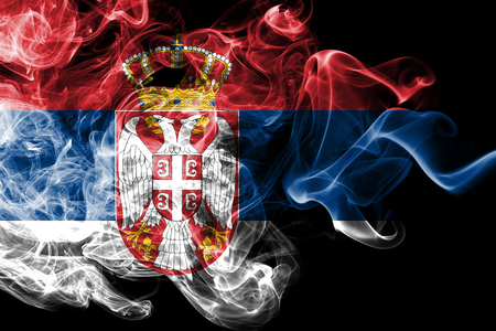 Serbia smoke flag