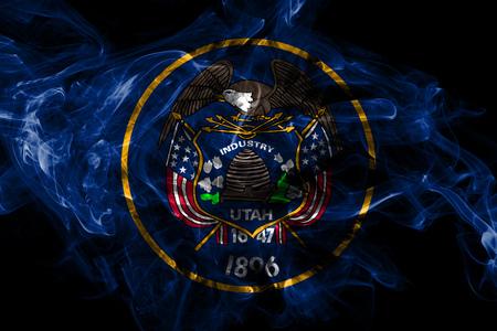 Drapeau de fumée de l'état de l'Utah, États-Unis d'Amérique