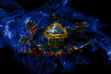Pennsylvania State Rauchfahne, Vereinigte Staaten von Amerika Standard-Bild