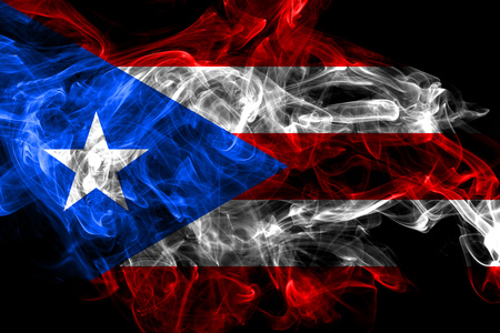 Puerto Rico smoke flag, United States dependent territory flag 免版税图像