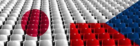 Japan, Japanese, Czech Republic, Czechia first round group E basketball world championship competition games 版權商用圖片