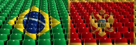 Brazil, Brazilian, Montenegro, Montenegrin first round group F basketball world championship competition games