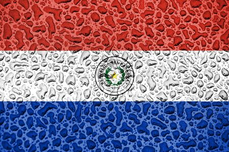 Paraguay national flag made of water drops. Background forecast season concept. Фото со стока