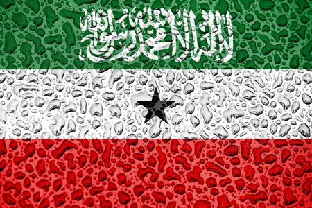 Somaliland national flag made of water drops. Background forecast season concept. Фото со стока