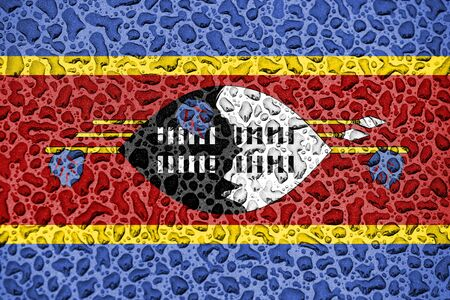 Swaziland national flag made of water drops. Background forecast season concept. Фото со стока