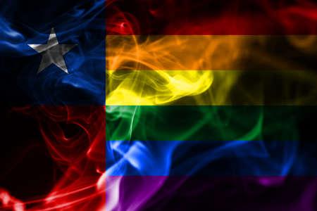 Chile Gay smoke flag, Chile flag 版權商用圖片