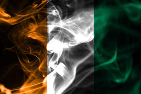 Côte d'Ivoire smoke flag 版權商用圖片