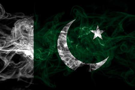 Pakistan, Pakistani smoke flag isolated on black background