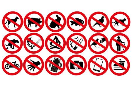 dog allowed: warnings Illustration