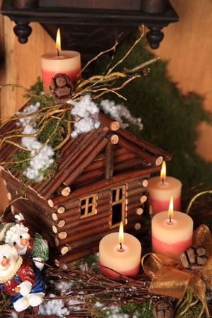 Christmas wooden house
