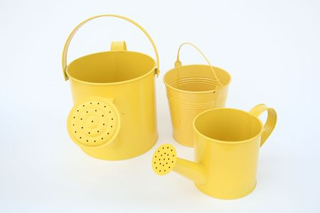 A yellow watering can 1 Stock Photo