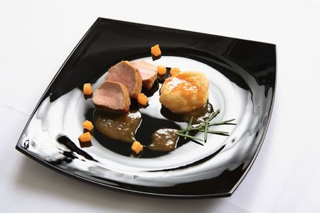 Pork fillet with sauce 2  Stock Photo