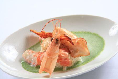 Shrimp and squid 2  Stock Photo