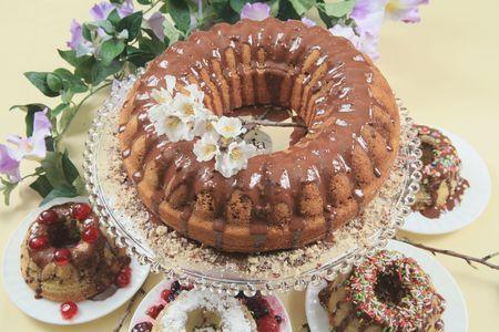 Decorated Christmas cake Stock Photo