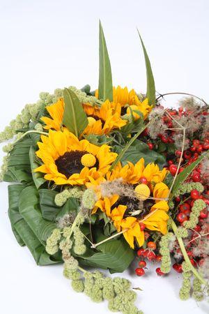 Sunflower bouquet Stock Photo