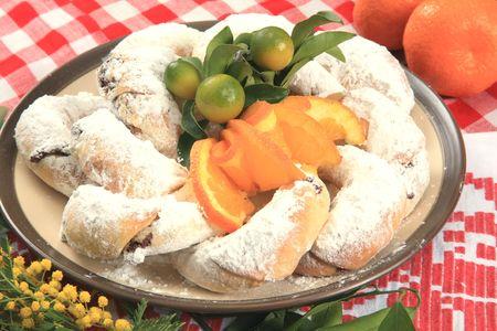Vanilla croissant  Stock Photo
