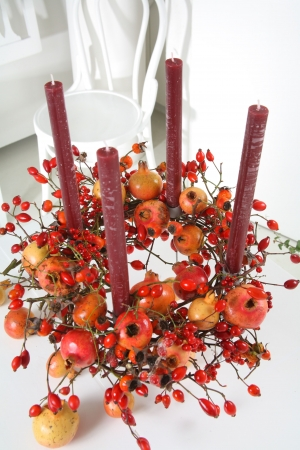 Advent wreath of pomegranate 2