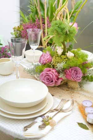 Wedding decorations on table 2