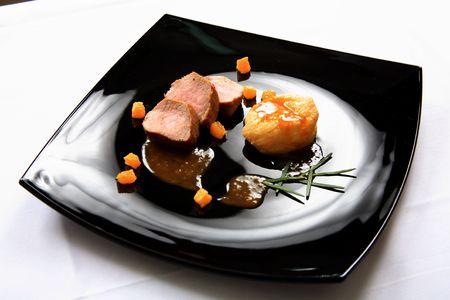 Pork fillet with sauce