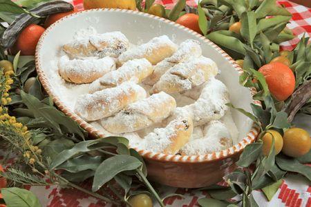 Vanilla cookies in the green Stock Photo - 5877465