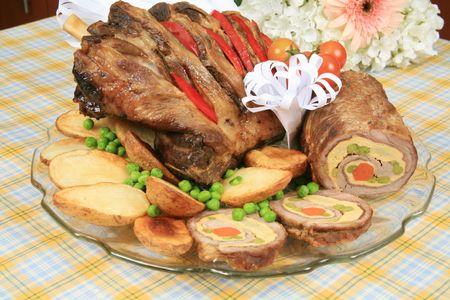 Roasted pork roll
