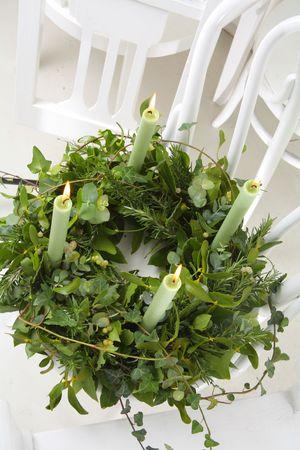 Advent wreath 2 Stock Photo