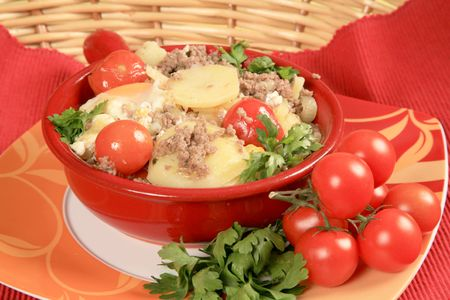 hashbrowns: Hash with potatoes and tomatoes 2