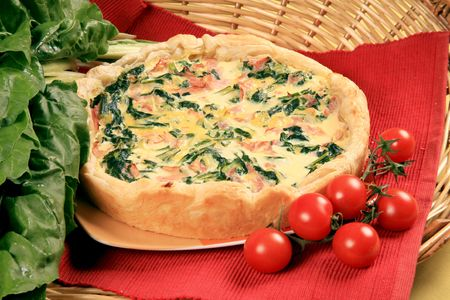 Swiss chard omelette with the dough