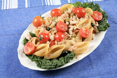 Tuna with pasta and vegetables 3 photo