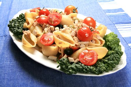 Tuna with pasta and vegetables 2 photo