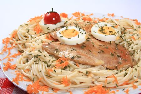 Chicken with noodles 3
