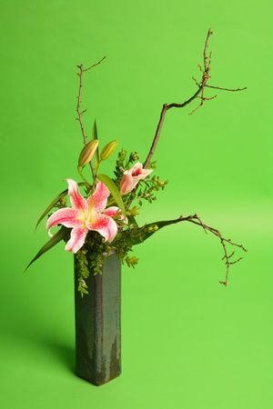Spring bouquet in a vase Stock Photo
