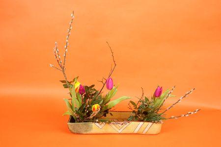 Tulip decoration photo